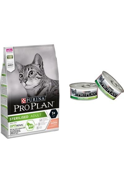 Pro Plan 3 kg Sterilised Somonlu Kısırlaştırılmış Kedi Maması + 2 Adet Sterilised Somonlu Konserve