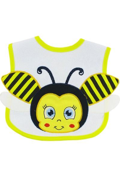 Buude Arı Motifli Bebek Mama Önlüğü