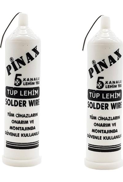 Pinax Tüp Lehim Teli 5 Kanallı 1.2 mm Solder Wire 40 gr 2'li