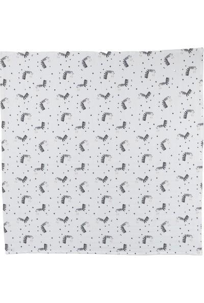 Deeperlove White Zebra Çok Amaçlı Müslin Örtü