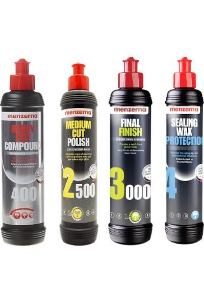 Menzerna 400 2500 3000 Sealing Wax Boya Koruma Seti 250 ml
