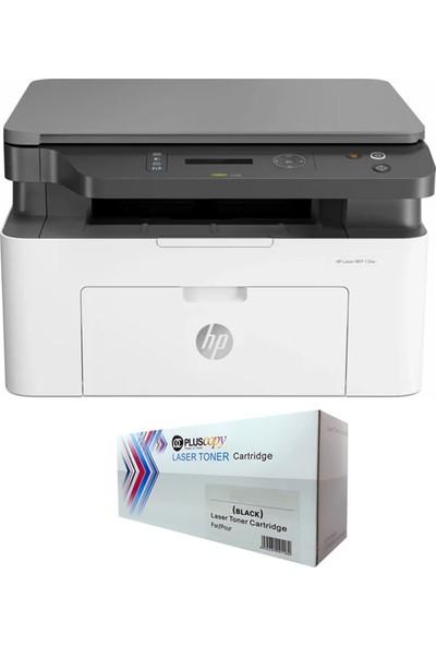 HP Laser MFP 135a Lazer Yazıcı 4ZB82A + Sınırsız Chipli Tam Dolu Pluscopy Tonerli