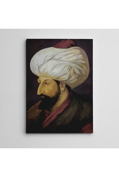 Dekolata Fatih Sultan Mehmet Portre Kanvas Tablo