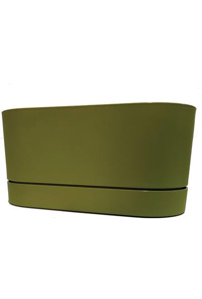 Poliwork Begonya Tabaklı Balkon Saksısı 30 cm 5,5 lt