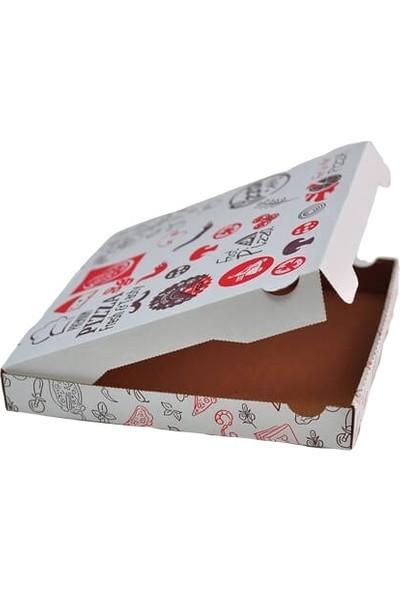Bkr Pizza Kutusu (32X32X4 Cm) 100 Adet