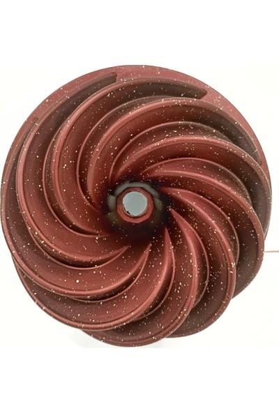 Vadi Rüzgar Gülü Granit Döküm Kek Kalıbı Kırmızı 25 cm