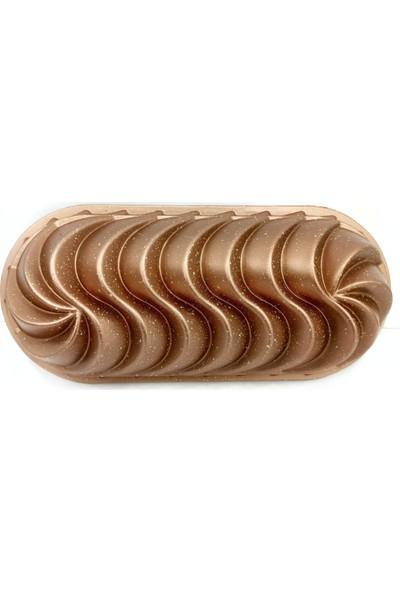 Vadi Baton Rüzgar Gülü Granit Döküm Kek Kalıbı Gold 33 cm