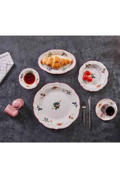Jumbo Majestic 28 Parça 6 Kişilik Kahvaltı Takımı Pink