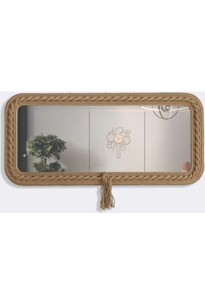 Dekorbizden Burgulu Halat Salon Aynası Ayna