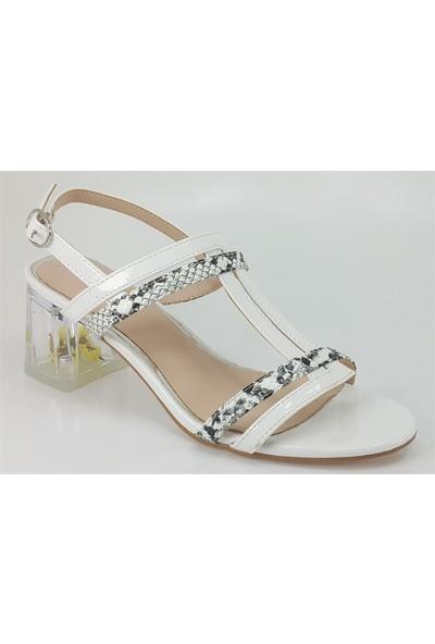Guja 106 Günlük Kadın Sandalet Beyaz