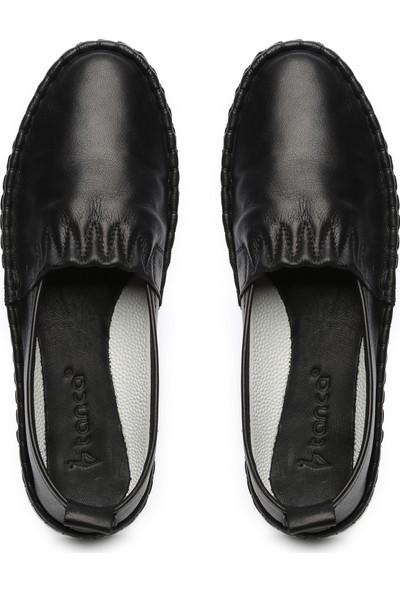 Kemal Tanca Kadın Deri Loafer Ayakkabı