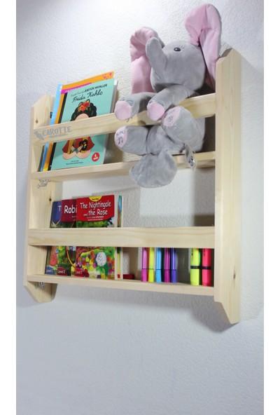 Carotte Hugo 2 Raflı Bebek Çocuk Odası Ahşap Kitaplık