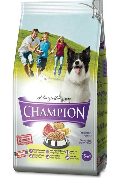 Champion Dana Etli Yüksek Enerji Yetişkin Köpek Maması 15 kg