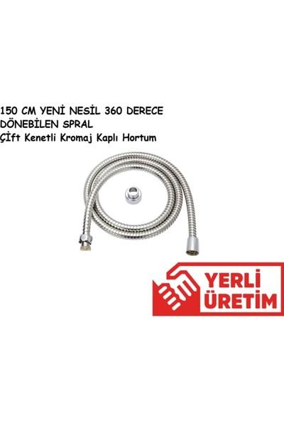 Euromix Spiral Duş Zinciri Çift Kenetli Örgülü Duş Hortumu