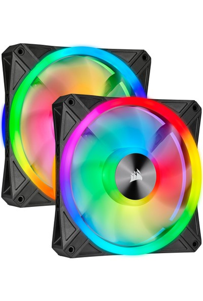 Corsair QL140 RGB 140 mm LIGHTING Node PWM Fan Dual Pack Kasa Fanı CO-9050100-WW