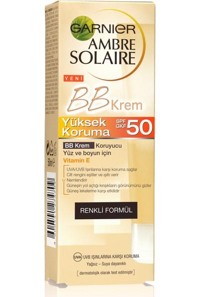 Garnier Ambre Solaire Güneş Koruyuculu BB Krem 50 Faktör 50 ml