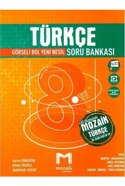 Mozaik Yayınları 8. Sınıf Türkçe Soru Bankası