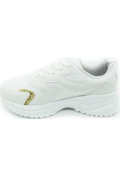 Trendy 100502 Beyaz Unisex Spor Ayakkabı