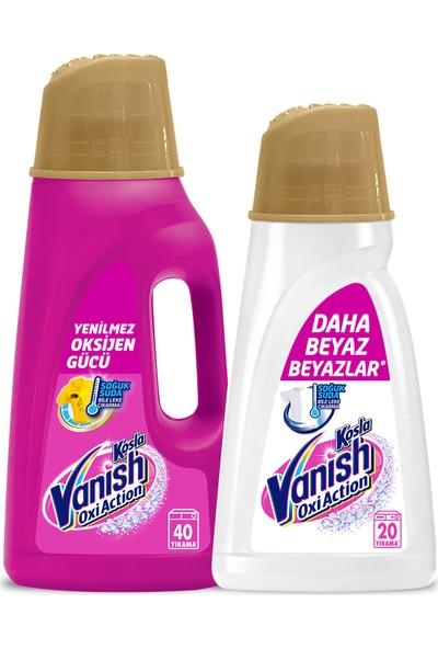 Vanish Kosla Oxi Action Gold Sıvı Leke Çıkarıcı Renkliler 2000 ml+1000 ml Beyazlar