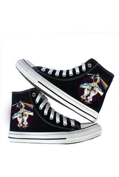 Art Fashion Pink Floyd Anthology Tasarım Unisex Canvas Ayakkabı