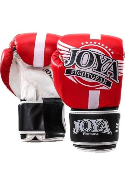 Joya Kickboxing Eldiveni Junior Kırmızı - Beyaz