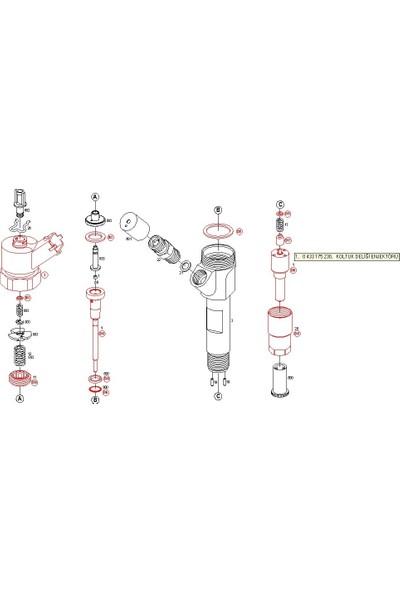 Bosch 0433175230 Renault İçin Enjektör Memesi (DSLA140P862 +) (Crı Inj.)