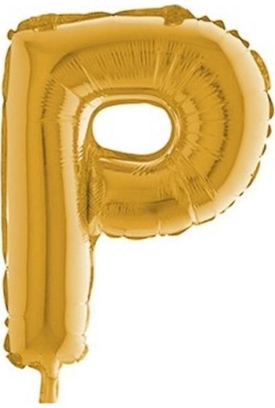 Pera Balon Parti P Harf Gold Folyo Balon 102 cm