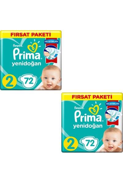 Prima Bebek Bezi 2 Beden-Numara Mini 4-8 kg 72 Li 2 Paket 144 Adet