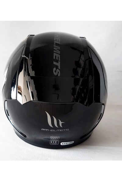 MT Kask MT Revenge 2 Solid A11 Gloss Black Şeffaf Vizörlü