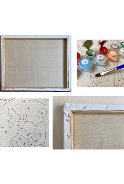 Tale Hobby Sayılarla Boyama Hobi Seti Numaralı Kendin Boya Tablo Seti 40 x 50 cm