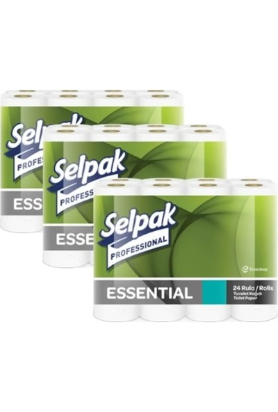 Selpak Essential Tuvalet Kağıdı 24 x 3'lü