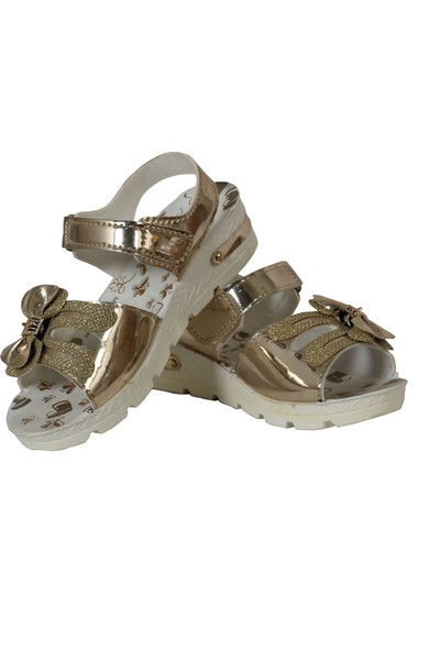 Vişne Ortopedik Terletmez Terletmez Çocuk Sandalet Altın 34