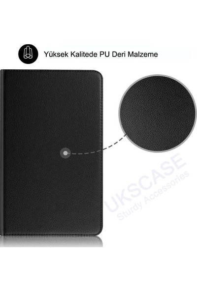 """UKS Case Apple iPad 7. Nesil 10.2"""" 360 Derece Dönebilen Standlı Deri Kılıf"""