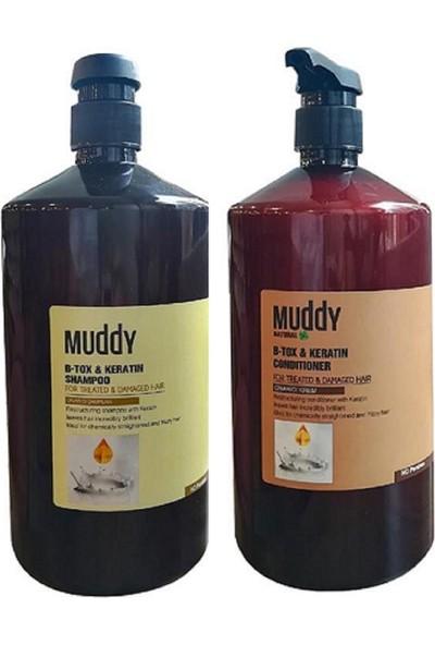 Muddy B-Tox & Keratin Onarıcı Şampuan 1000 ml + B-Tox & Keratin Onarıcı Krem 1000 ml