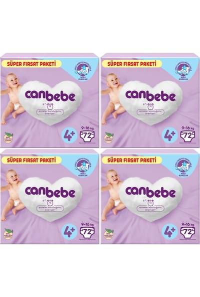 Canbebe Bebek Bezi 4+ Beden 72*4=288 Adet Bebek Bezi