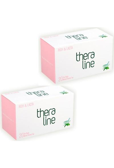 Theraline Rich & Lacta Karışık Bitki Çayı 20 Süzen Poşet x 2 Kutu
