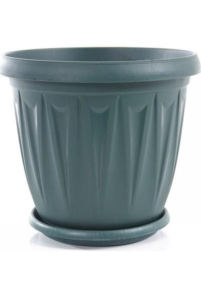 Şenyayla 5704 5 Lt Ürgüp Tabaklı Plastik Saksı Yeşil