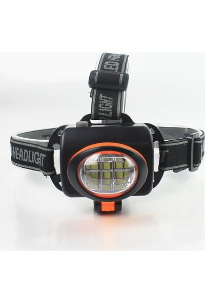 Yopigo Ultra Güçlü 12W LED Pilli Kafa Lambası + 3 Adet Pil