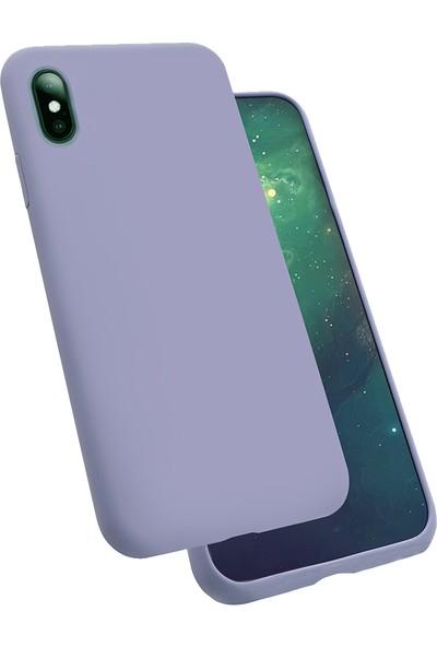 Vendas Apple iPhone X Lsr İpek Serisi Soft Premium Silikon Kılıf Lila
