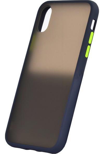 Vendas Apple iPhone XS Drop Dizayn Premium Silikon Kılıf Lacivert