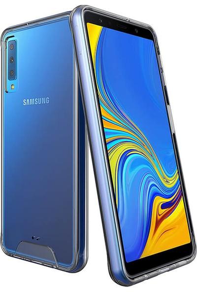 Vendas Samsung Galaxy A7 2018 Security Serisi Sert Silikon Kılıf Şeffaf