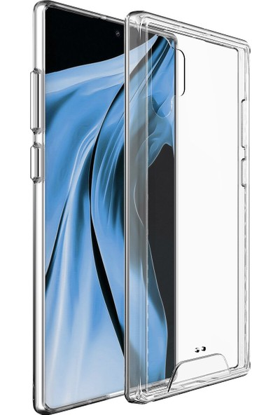 Vendas Samsung Galaxy Note 10 Plus Security Serisi Sert Silikon Kılıf Şeffaf