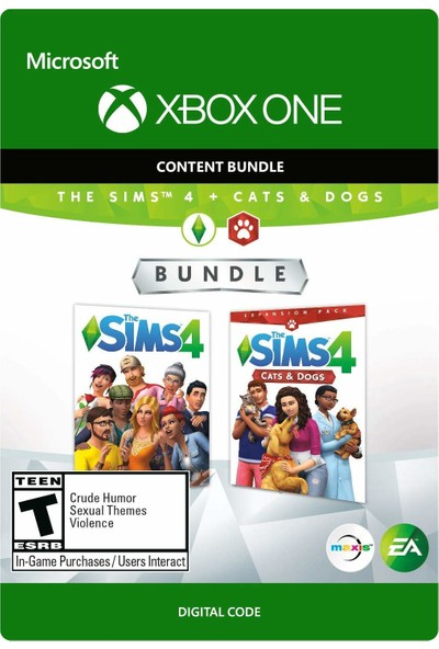 The Sims 4 Plus Cats & Dogs Bundle Xbox One (The Sims4 Ana Oyun Dahildir) Dijital Oyun