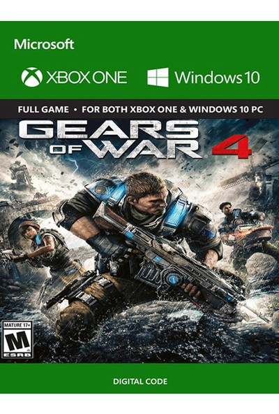 Gears Of War 4 Xbox One / Windows 10 Dijital Oyun