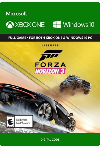 Forza Horizon 3 Xbox One / Windows 10 Dijital Oyun
