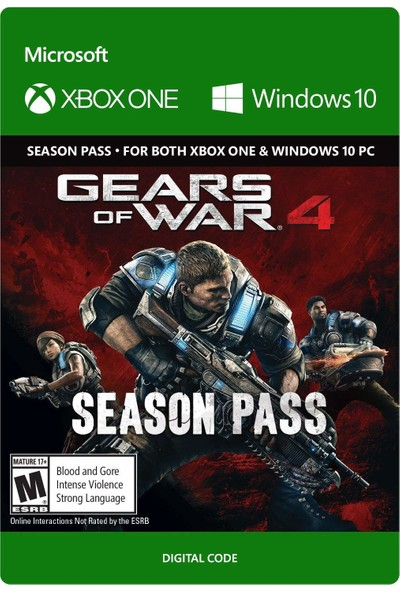 Gears Of War 4 Season Pass Xbox One / Windows 10 Dijital Oyun