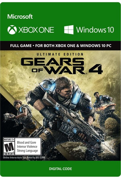 Gears Of War 4 Ultimate Edition Xbox One / Windows 10 Dijital Oyun