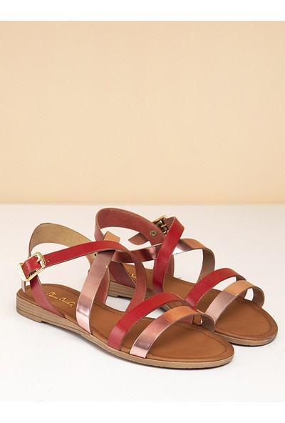 Pierre Cardin Kadın Sandalet PC-2128 - 2163-05-RUGAN Kirmizi