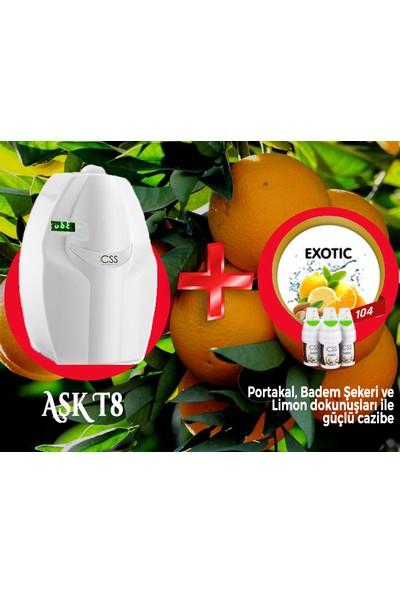 Css T8 400 M2 Kapasiteli Beyaz Profesyonel Koku Makinesi&exotic Koku Kartuşu