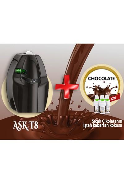Css T8 400 M2 Kapasiteli Siyah Profesyonel Koku Makinesi&chocolate Koku Kartuşu